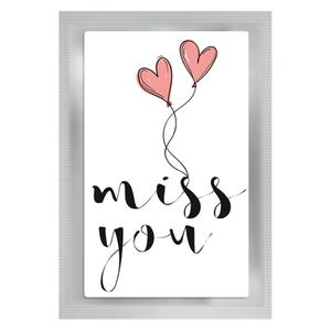 "Teepostkarte ""Miss you"""