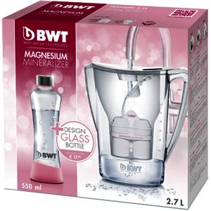 Penguin 2,7L + Glasflasche 0,55L weiß Wasserfilter-Set