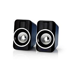 GSPR20020BK Gaming-Lautsprecher   2.0   RGB   USB-betrieben   3,5-mm