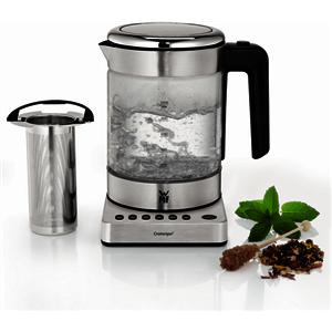 KÜCHENminis Glas-Wasserkocher Vario cromargan matt Tee-/Wasserkocher