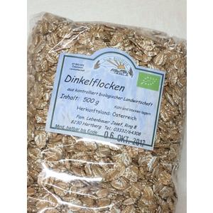 Bio Dinkelflocken, DOPPELPACK 2 x 500 g