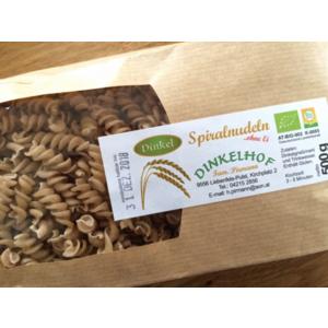 Bio Dinkel Spiralen aus Kärnten, 500g