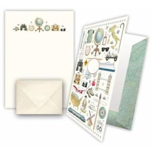 Briefpapier Weltenbummler