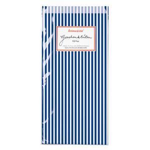 Geschenktüten Streifen blau