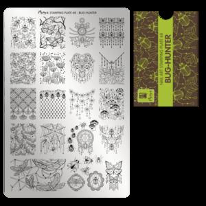 Moyra Stamping Schablone - Bug-Hunter Nr.68
