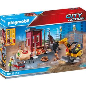 PLAYMOBIL® City Action - Minibagger mit Bauteil - 70443