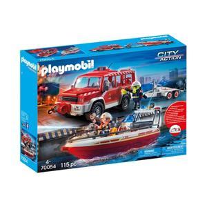 Playmobil City Action - Feuerwehrfahrzeug mit Löschboot - 70054