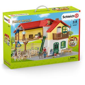Schleich - Farm World Bauernhaus mit Stall und Tieren - 42407