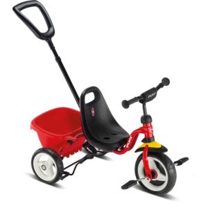 Puky - Dreirad Ceety mit Komfortreifen, Kippmulde und Schiebestange - rot - 2214