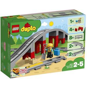 Duplo - Eisenbahnbrücke und Schienen - 10872
